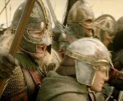 Broco le Hobbit menée par votre servante dans la bataille